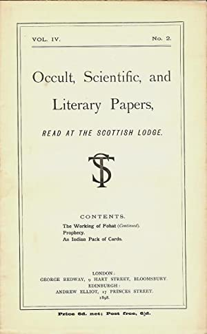Occult, Scientific, and Literary Papers, Read at: BRODIE-INNES, J. W.]