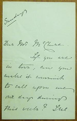 An Autograph Letter, Signed.: CORELLI, Marie.