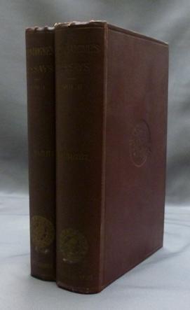 The Essays of Michel de Montaigne ( 2 volumes ).: MONTAIGNE, Michel de ( Edited by W. Carew Hazlitt...