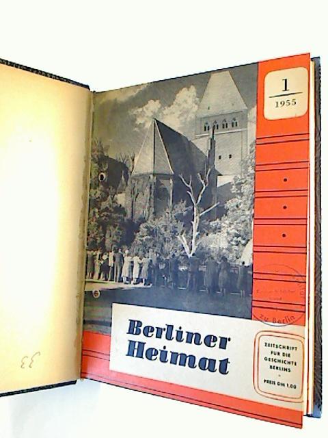 Berliner Heimat  - 1955 + 1958, je Heft 1 -