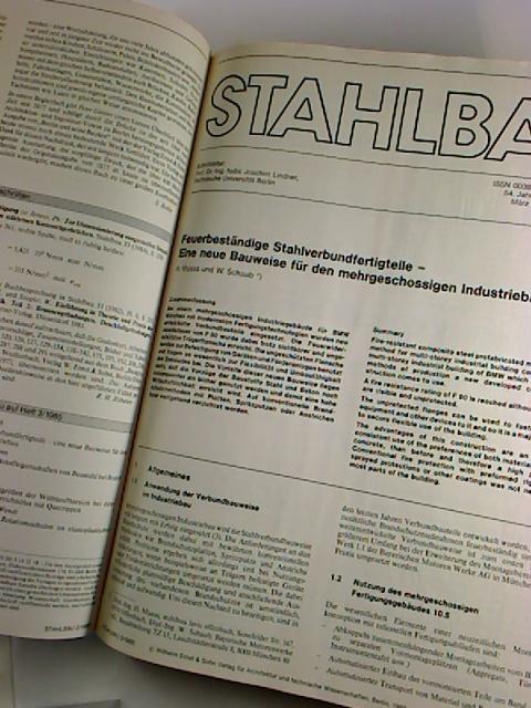 Stahlbau. - 54. Jg. / 1985, H.