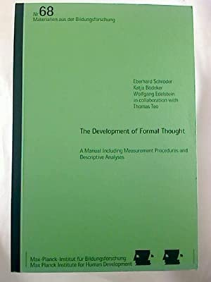 The Development of Concrete Thought. - A Manual Including Measurement Procedures and Descriptive ...