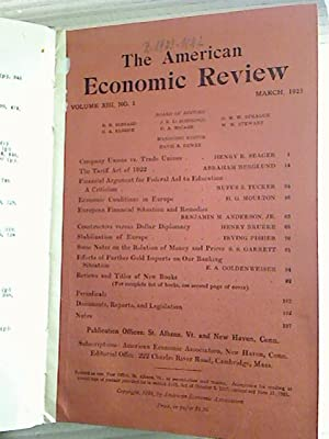 The American Economic Review. - Vol. 13 / 1923 (gebund. Jahresbd.)