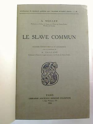 Le slave commun.: A. Meillet