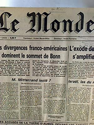 Le Monde - Quarante-Deuxieme Annee - Mai 1985 (complete month, bound in one volume)