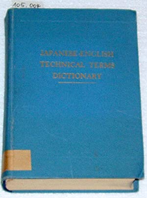 Japanese-English technical terms dictionary.