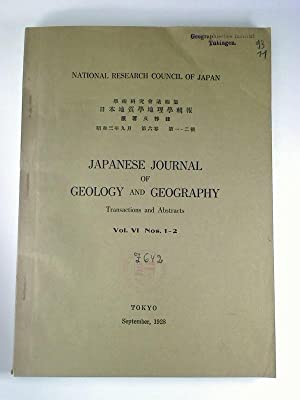 Japanese Journal of Geology and Geography :