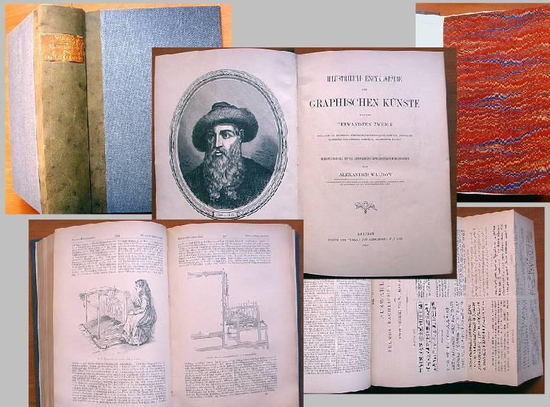 Illustrierte Encyklopädie der Graphischen Künste und der: Waldow, Alexander: