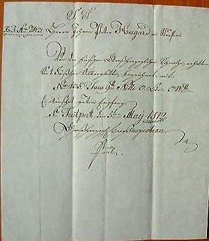 Paket-Begleitbrief der Großherzoglichen Berginspektion St. Trutpert.: Historischer Faltbrief: