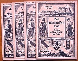 Das Markgräflerland / Beiträge zu seiner Geschichte und Kultur. - 3. Jahrgang, Heft 1 (Oktober 1931...