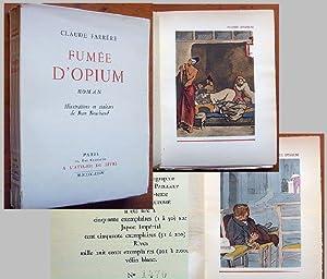 Fumee d' Opium / Roman / Illustrations en couleurs de Jean Bouchaud. - Nr. 1470 von 2000 ...