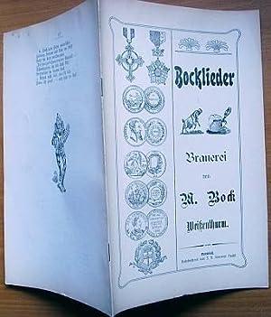 Bocklieder / Brauerei von M. Bock / Weißenthurm.: Brauerei von M. Bock, Weißenthurm (Hrsg.):