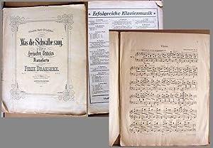 Was die Schwalbe sang. / Fünf lyrische Stücke für Pianoforte von Felix Draeseke. Op. 21. / Pr. M. 3...
