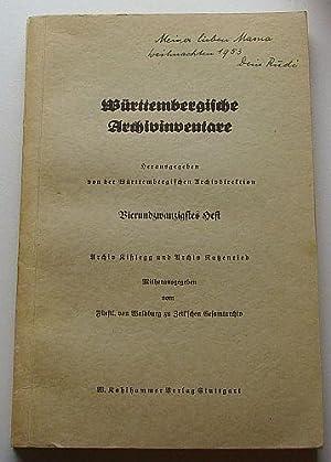 Systematische Übersicht über die Bestände des Fürstl. von Waldburg-Zeil'schen Gesamtarchivs in ...