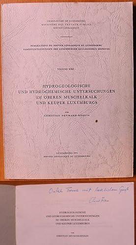 Hydrogeologische und hydrochemische Untersuchungen im oberen Muschelkalk: Neumann-Redlin, Christian: