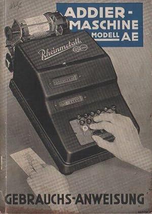 Rheinmetall Addiermaschinen mit elektrischem Antrieb / Addiermaschine Modell AE / ...