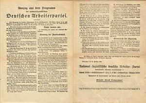 Auszug aus dem Programm der national-sozialistischen Deutschen Arbeiter-Partei . (25 Punkte, ...
