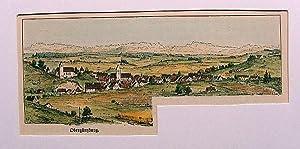 Kleiner colorierter Holzstich von Obergünzburg.: Dietrich:
