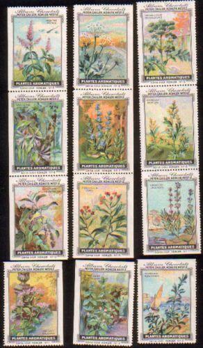 Plantes Aromatiques. Serie XXXVII. Komplette Serie mit: Peter, Cailler, Kohler,
