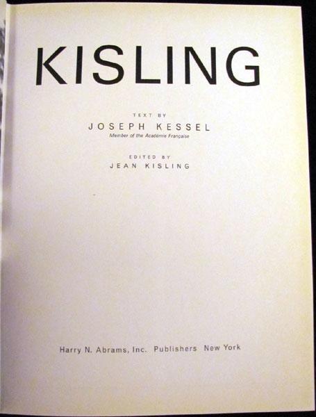 Kisling: Kessel, Joseph and Kisling, Jean [editor]