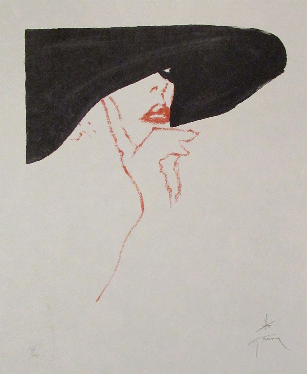1988 Rene Gruau Pencil Signed Lithograph