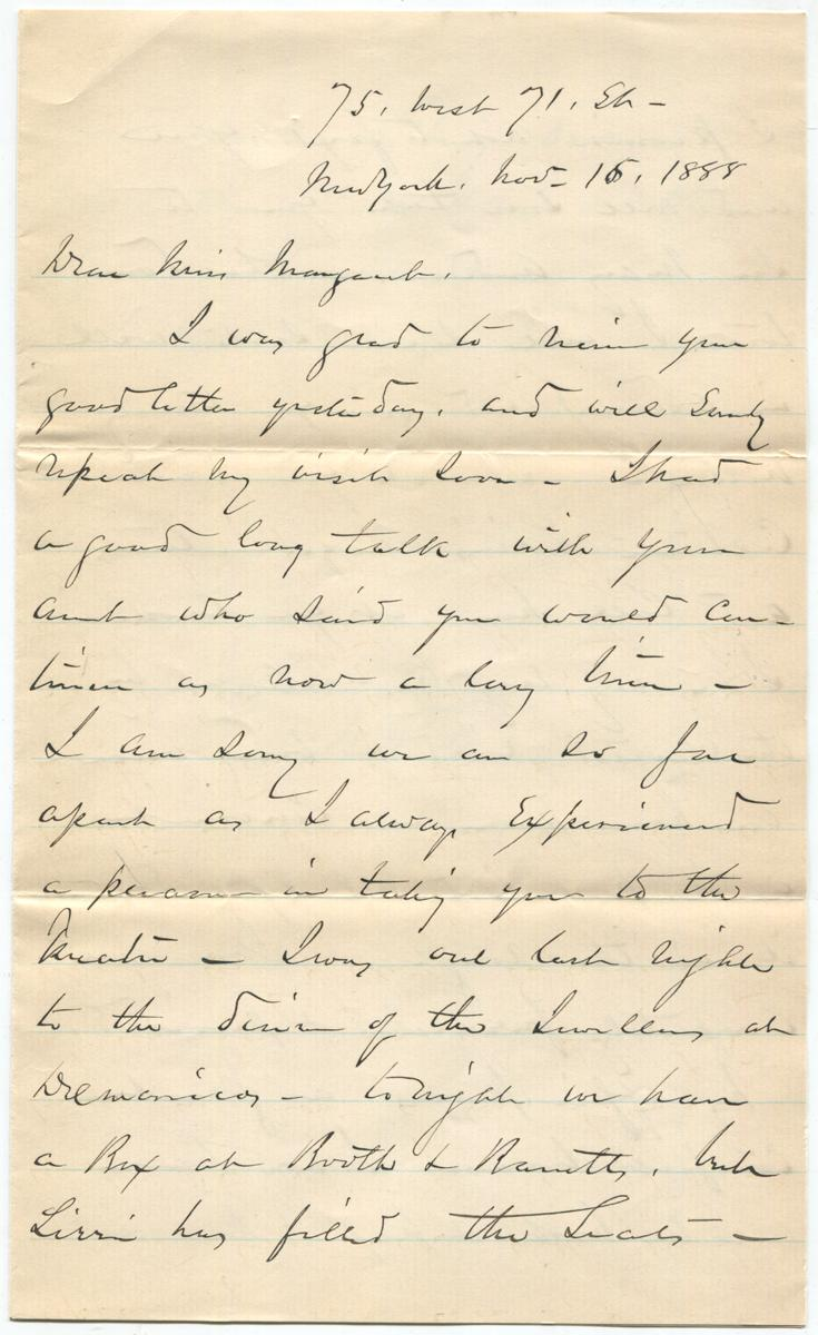 1888__Civil_War_General_William_Tecumseh_Sherman_Writes_to_a_Friend_About_His_New_Home_Sherman_William_Tecumseh_Assez_bon