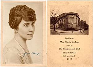 1927 Grace Coolidge Signed Photograph