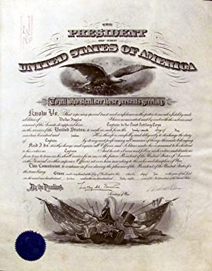 1914 Woodrow Wilson Signed Military Appointment: Wilson, Woodrow