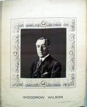 Enormous Woven Silk Portrait of Woodrow Wilson