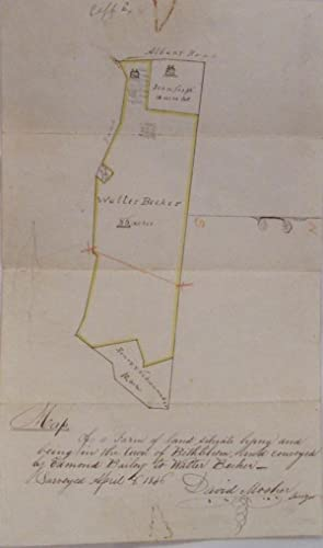 1846 Surveyor's Manuscript Map Town of Bethlehem, New York