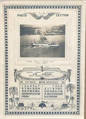 1922 Real Photo Calendar USAT Thomas