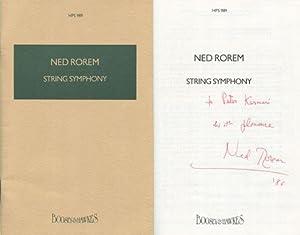 1986 Ned Rorem Stringed Symphony Score Signed: Rorem, Ted