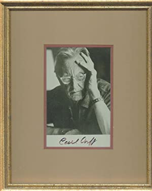 Carl Orff Signed Photograph Framed: Orff, Carl