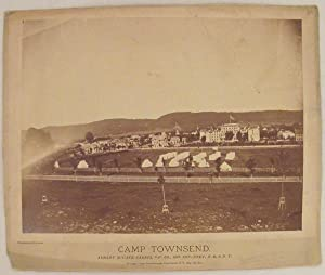 1873 Albumen Photo of Albany Zouave Cadets in Camp at Cooperstown, New York