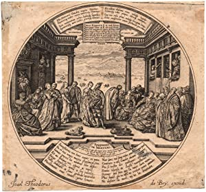 "The Venetian Ball"" 16th Century Engraving by Johann Theodor de Bry: de Bry, Johann Theodor"