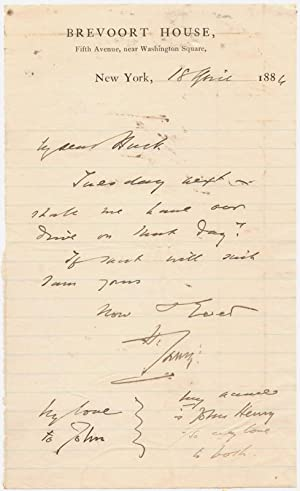 1886 Sir Henry Irving Autograph Letter Signed: Irving, Henry