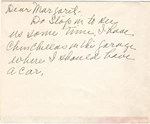 An Amusing Christmas Card Signed by Grandma Moses and Her Daughter: Moses, Anna Mary Robinson ...