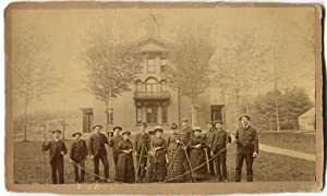 c. 1880 Surveying Party Cabinet Photograph