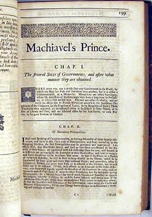 The Works of the Famous Nicholas Machiavel Citizen and Secretary of Florence: Machiavel, Nicholas