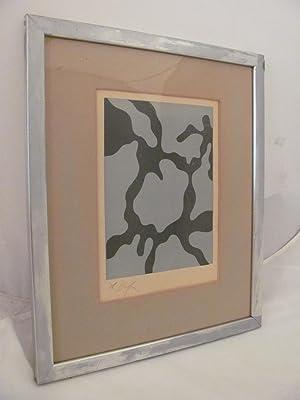 """Jean/Hans Arp Woodcut c. 1953 """"Relief II"""""""