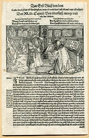 16th c. Hans Burgkmair the Elder Woodcut Illustration for Petrarch's Glucksbuch