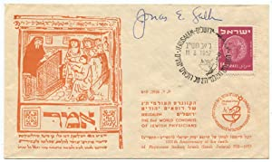 1952 Jonas Salk Signed First Day Cover: Salk, Jonas