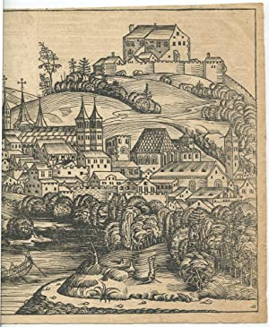 1493 Hartmann Schedel Woodcut Salczburga [Salzburg] from the Nuremberg Chronicles: Hartmann Schedel