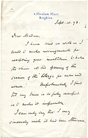 Right Hon. John Morley - Group of Three Autograph Letters Signed: Morley, John