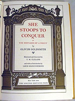 She Stoops to Conquer, or the Mistakes of a Night: Goldsmith, Oliver
