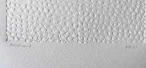 1961 Hans Haacke Signed Inkless Intaglio Print