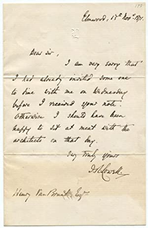 1871 James Russell Lowell Writes to Architect
