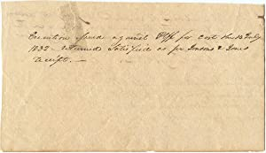 1832 William Houston Jack, Texas Revolutionary, Legal Receipt Signed