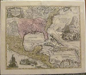 1720 Homann Map of the U. S. & Central America