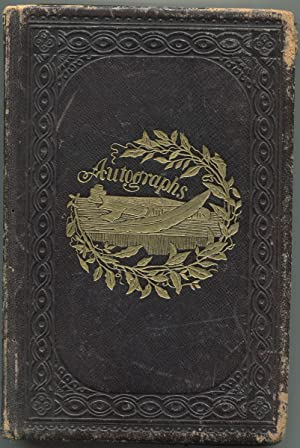 1865 Albany Law School Autograph Yearbook with Albumen Photographs